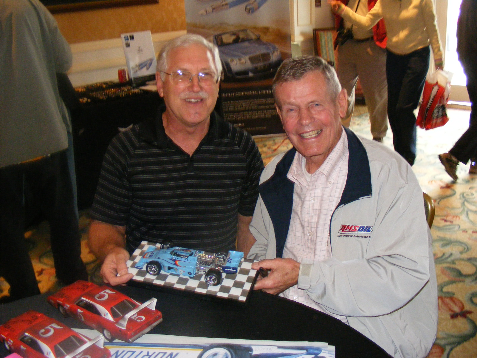 Bobby Unser signing models